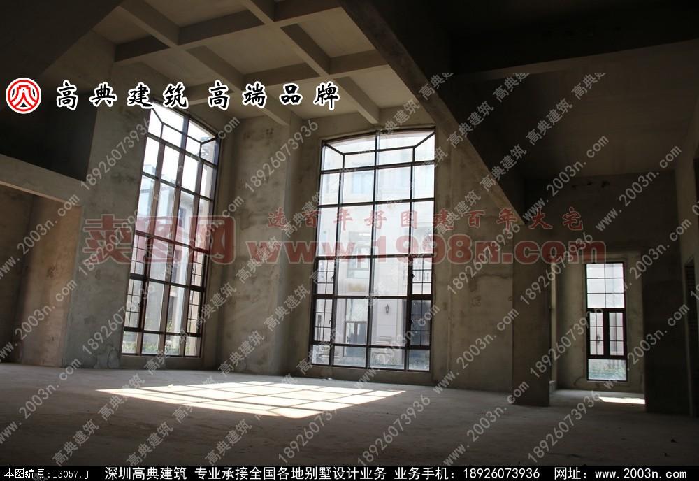东江湾别墅A户型别墅设计效果图和实景欣赏