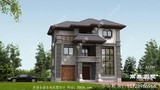 中式三层别墅设计图带复式大厅