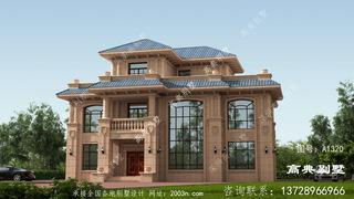 豪华经典三层欧式石材别墅设计图