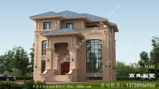 三层别墅外观效果图首层205平方米