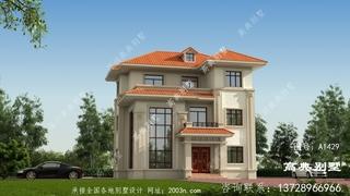 新农村三层高端复古时尚独栋别墅设计图纸
