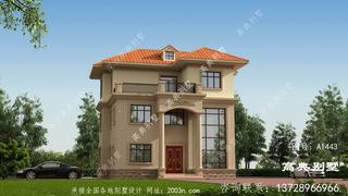 三层欧式风格农村住宅设计图纸