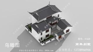 中式三层别墅首层182平方米图纸