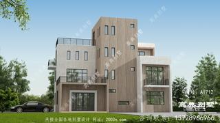 三层现代把别墅设计图首层164平方米