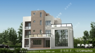 现代四层别墅设计图首层165平方米图纸