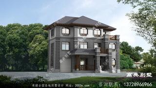 大气有质感的三层中式别墅设计图
