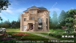 最新农村三层楼设计图以客厅空洞带车库