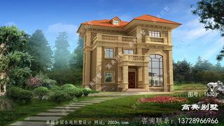 豪华农村三层欧式别墅设计施工图纸